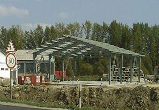 ELECTRAPLAN KFT. ÉRD, DV-KU 18 típus vázszerkezet, 600 m2, 1999.